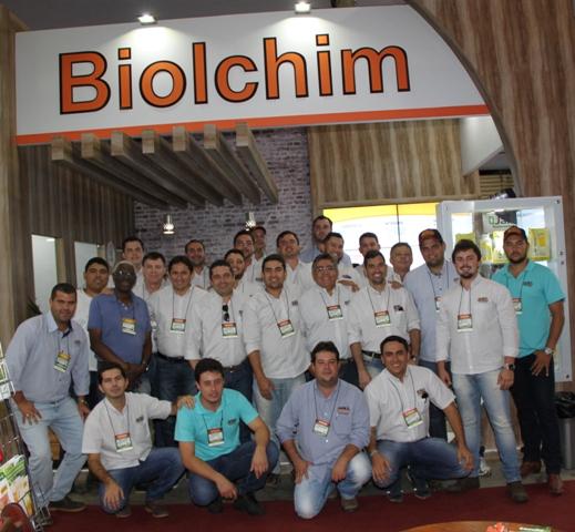 Equipe da Biolchim satisfeita com o resultado da feira - Créditos Ana Maria Diniz